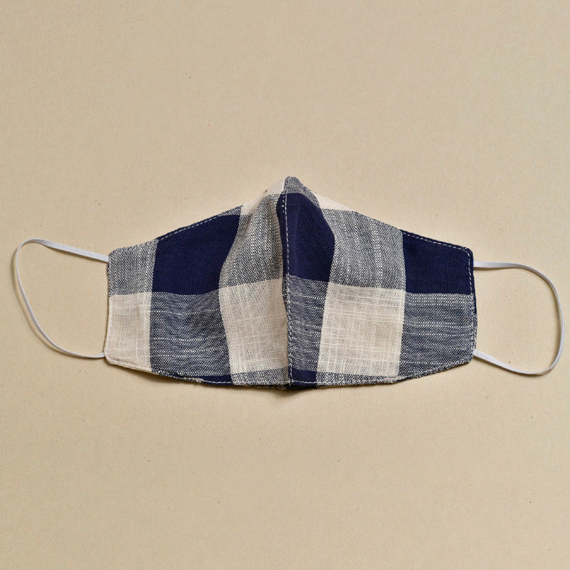 Cloth Face Mask (Navy x Natural)