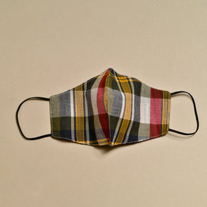 Cloth Face Mask (Navy x Red x Yellow)
