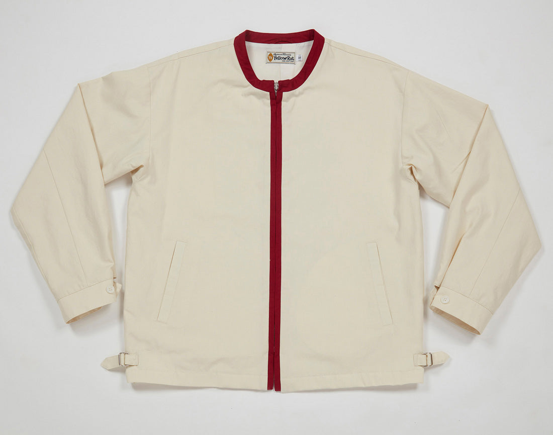 Port Coat I (Ivory x Red)
