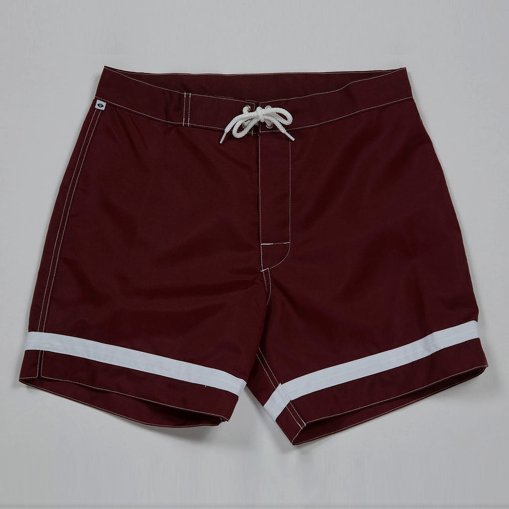 Crossbar Weave Trunks (Burgundy)