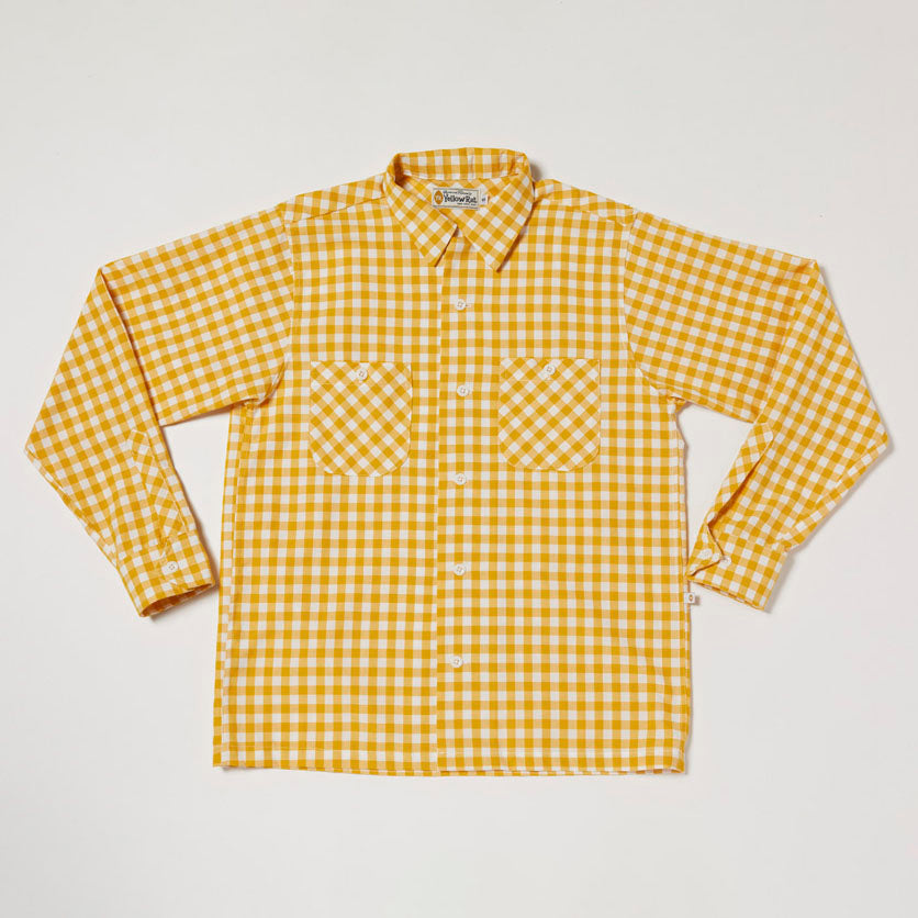 Round Collar Long Sleeve Shirt II (Greellow)