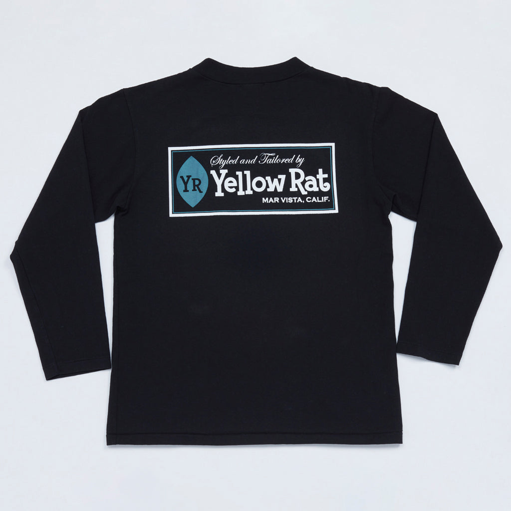 Classic Box Mock Neck Long Sleeve Tee (Black)