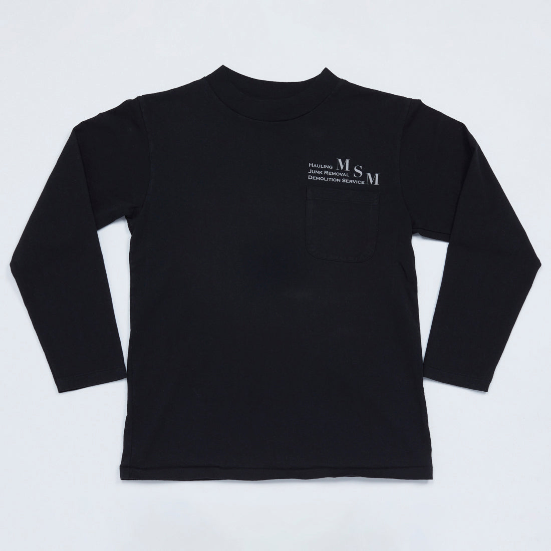 MSM Mock Neck Long Sleeve Tee (Black)