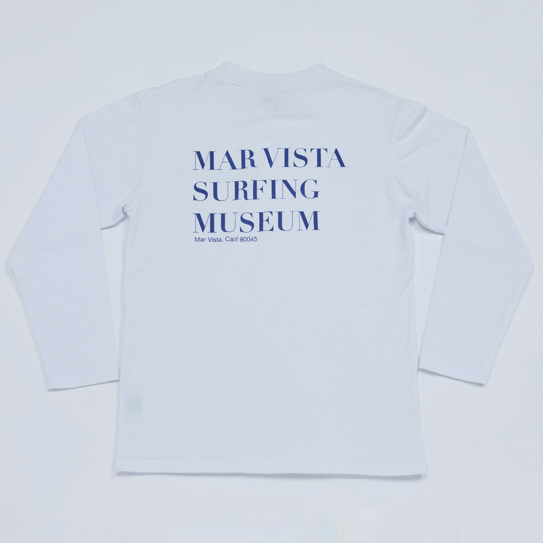 MSM Mock Neck Long Sleeve Tee (White)