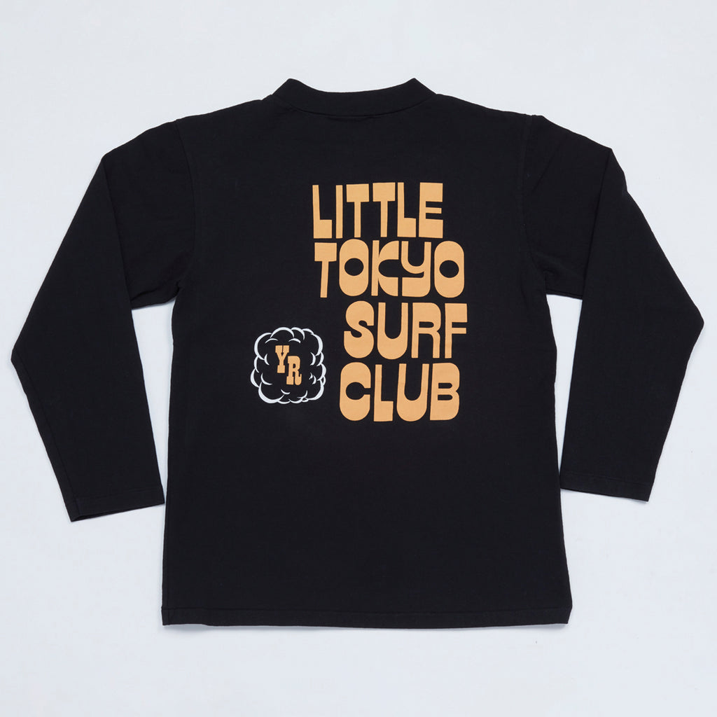 Little Tokyo Surf Club Mock Neck Long Sleeve Tee (Black)