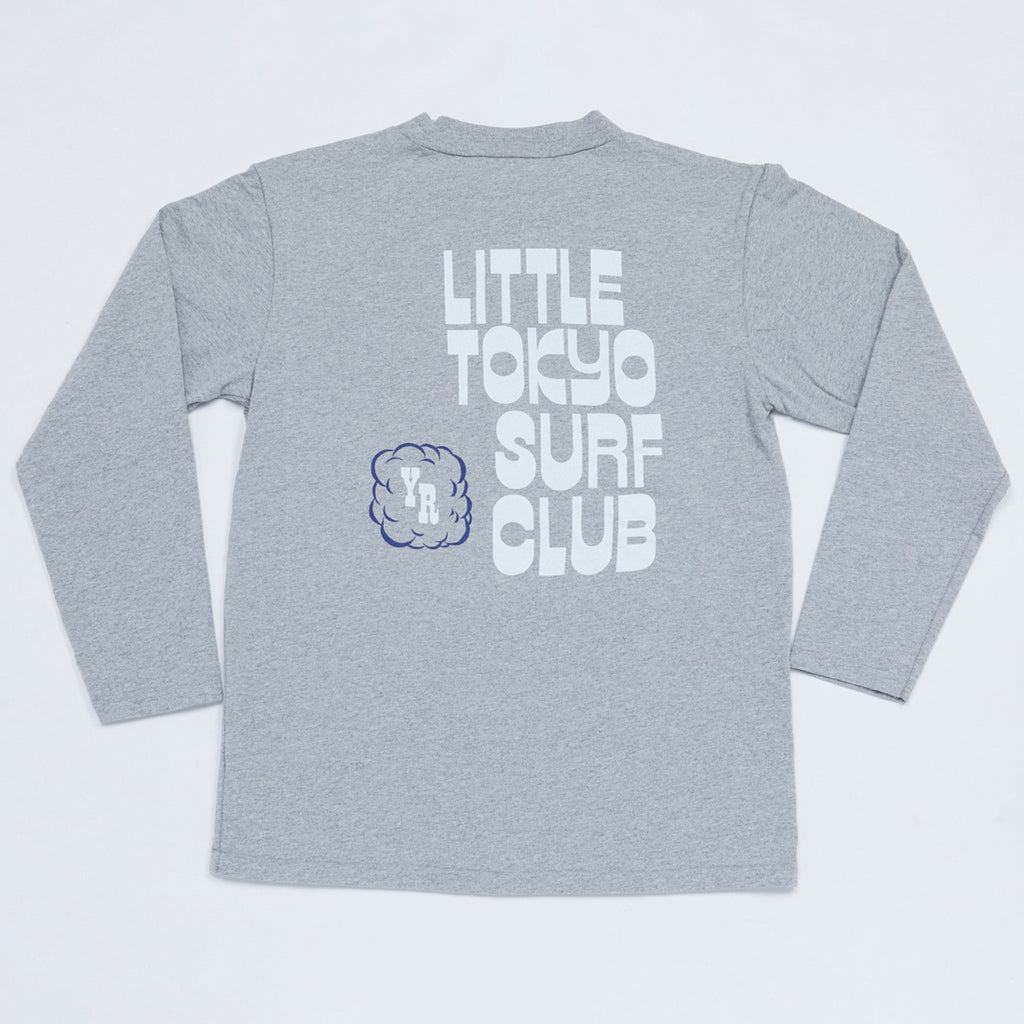 Little Tokyo Surf Club Mock Neck Long Sleeve Tee (Heather Gray)