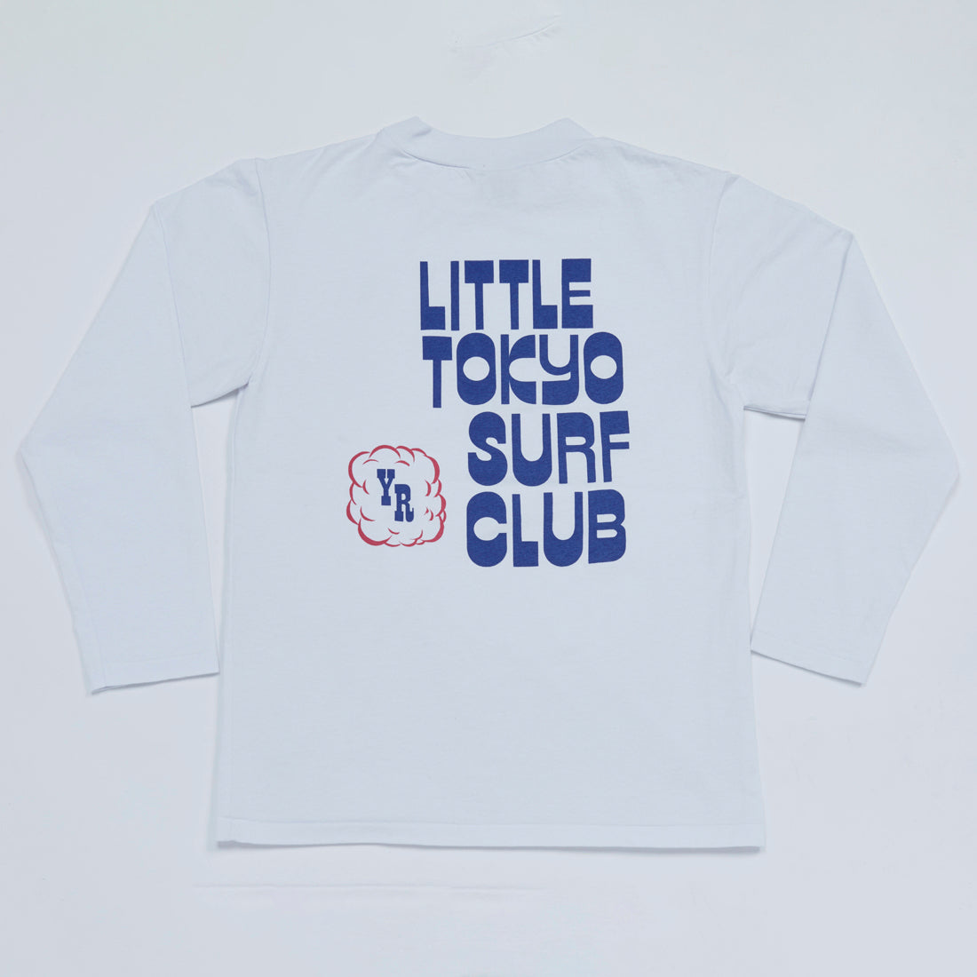 Little Tokyo Surf Club Mock Neck Long Sleeve Tee (White)