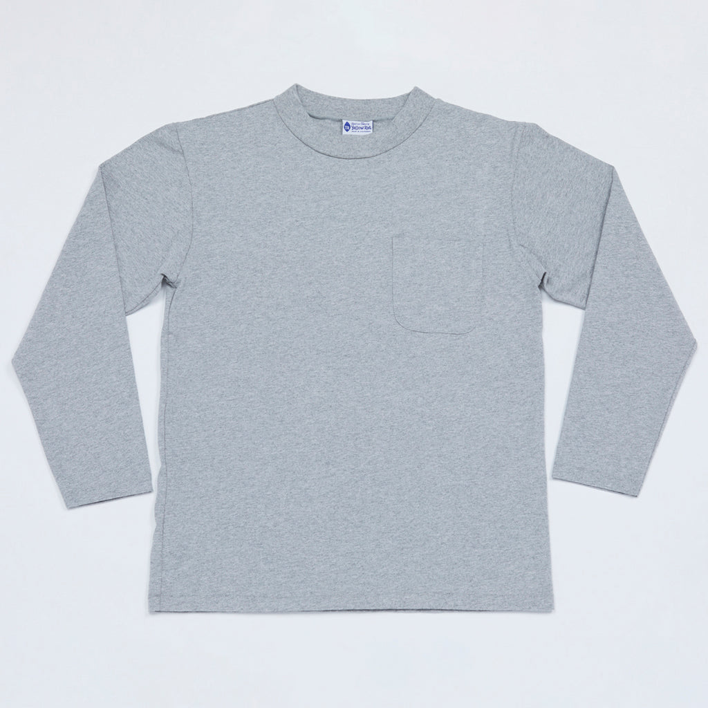 Mock Neck Long Sleeve Tee (Heather Gray)