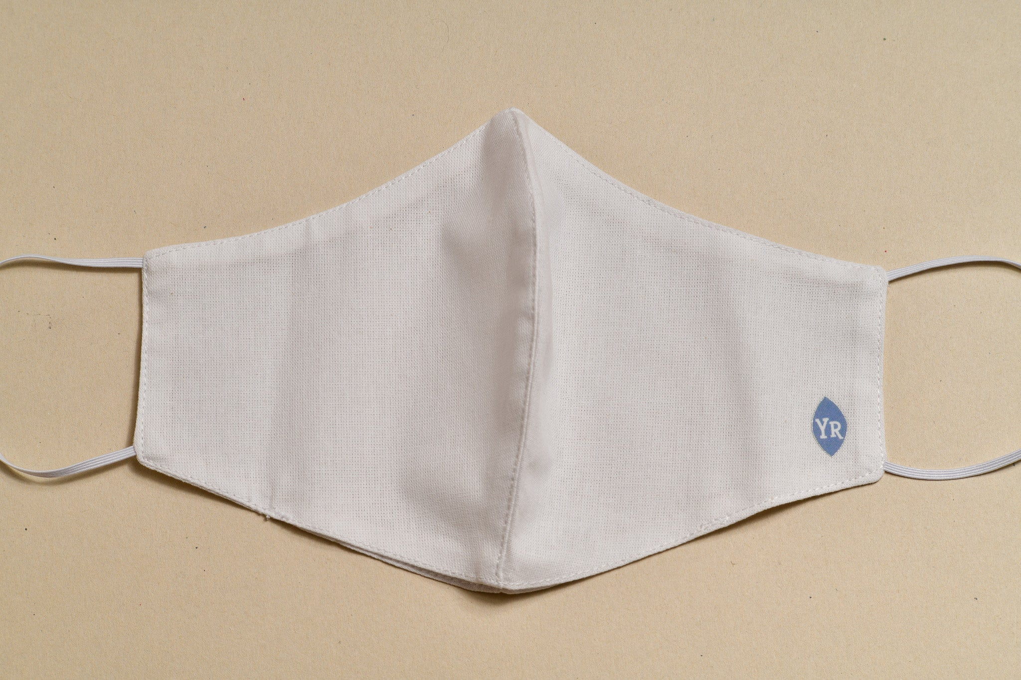 Cloth Face Mask (White with oval logo)