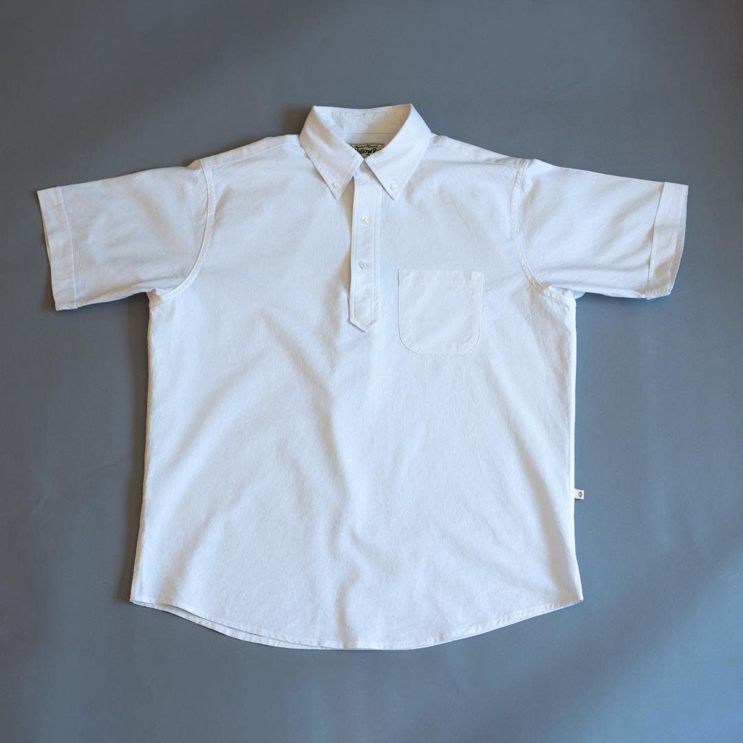 Pull Over Button-down Shirt II (White)