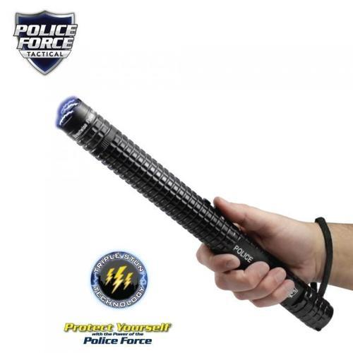 Police Force 12,000,000 Tactical Stun Baton Flashlight