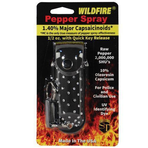 Wildfire 1.4% MC 1/2 oz Rhinestone Leatherette Holster