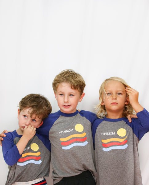 Sunset Baseball Toddler Tee
