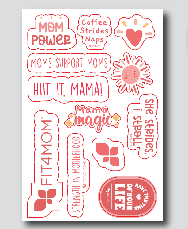 FIT4MOM Sticker Sheets - Packs of 5