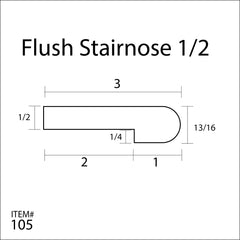Flexitions Stainable Flexible Flush Stair Nose 1/2""