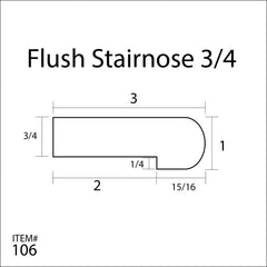 Flexitions Stainable Flexible Flush Stair Nose 3/4""
