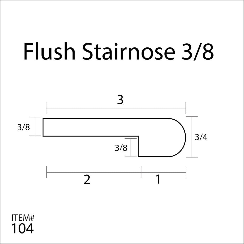 Flexitions Stainable Flexible Flush Stair Nose 3 8 Flexitions