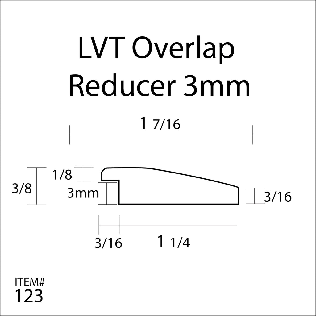 flexitions stainable flexible overlap reducer for lvt - 3mm