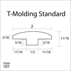 Flexitions Stainable Flexible T-Molding 168""