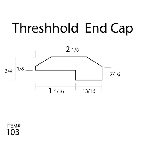 Flexitions Stainable Flexible Threshold/End Cap 84""