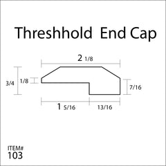 Flexitions Stainable Flexible Threshold/End Cap 168""
