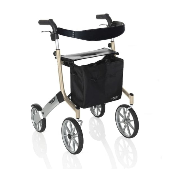 beige let's go out rollator walker