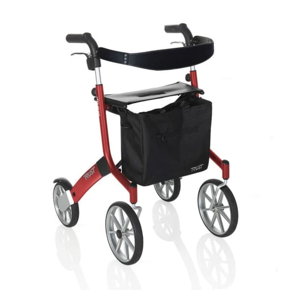 red let's go out rollator walker