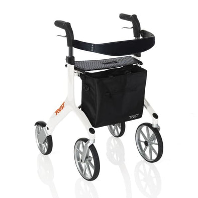 let's fly rollator walker in white