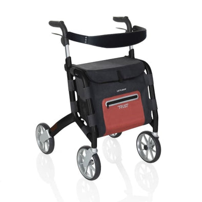 Black let's shop rollator walker