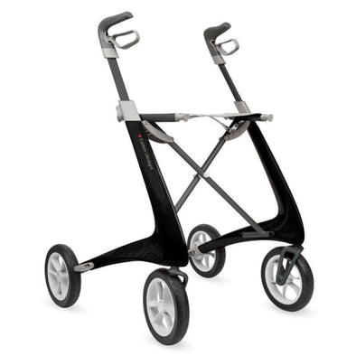 carbon light rollator in black