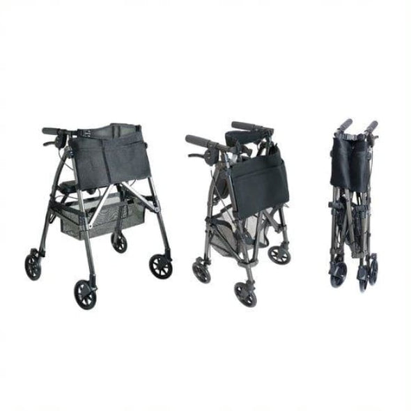 EZ Fold-N-Go Folding Rollator Walker stages