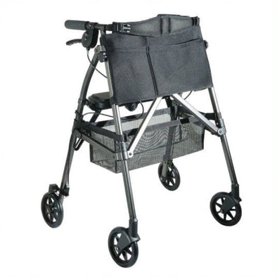 EZ Fold-N-Go Folding Rollator Walker - Black Walnut - Walker