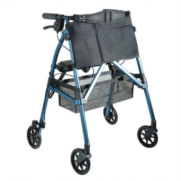 EZ Fold-N-Go Folding Rollator Walker - Cobalt Blue - Walker