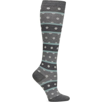 heather dot stripe compression socks