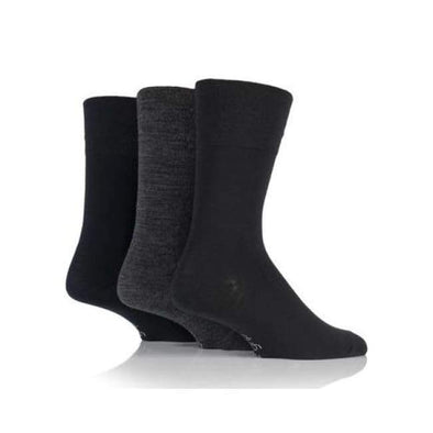 Non Binding Bamboo Socks For Men Or Women In Charcoal Navy & Black - Charcoal Navy & Black - Diabetic Socks