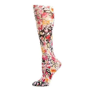 Lightweight Patterned Compression Socks In Raspberry Hill - 8-15 Mmhg / Raspberry Hill - Compression Socks