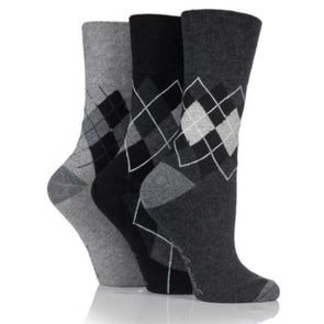 Non Binding Socks For Women In Argyle - Argyle - Diabetic Socks