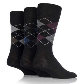 Non Binding Socks For Men Or Women In Argyle - Argyle - Diabetic Socks