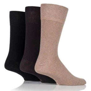 Non Binding Socks For Men Or Women In Beige Brown & Black - Beige Brown & Black - Diabetic Socks