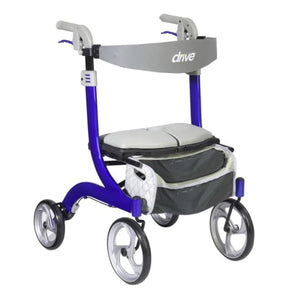 Nitro Deluxe Rollator Walker in 2 Colors - Blue - Rollator