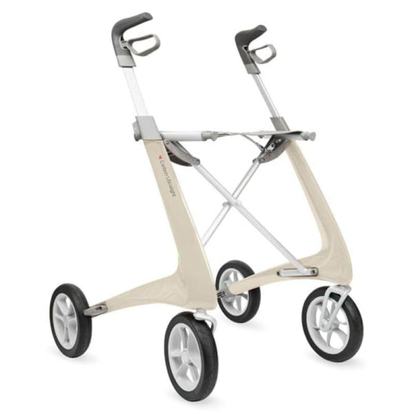 carbon light rollator white