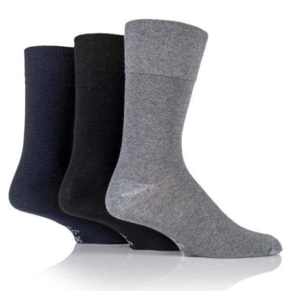 Non Binding Socks For Men Or Women In Charcoal Navy & Black - Charcoal Navy & Black - Diabetic Socks