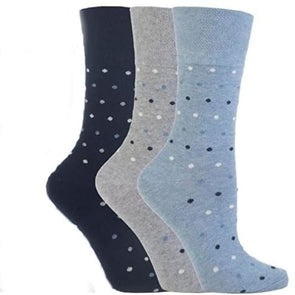 denim dot non binding socks for women