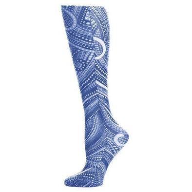 denim dotty lightweight compression socks