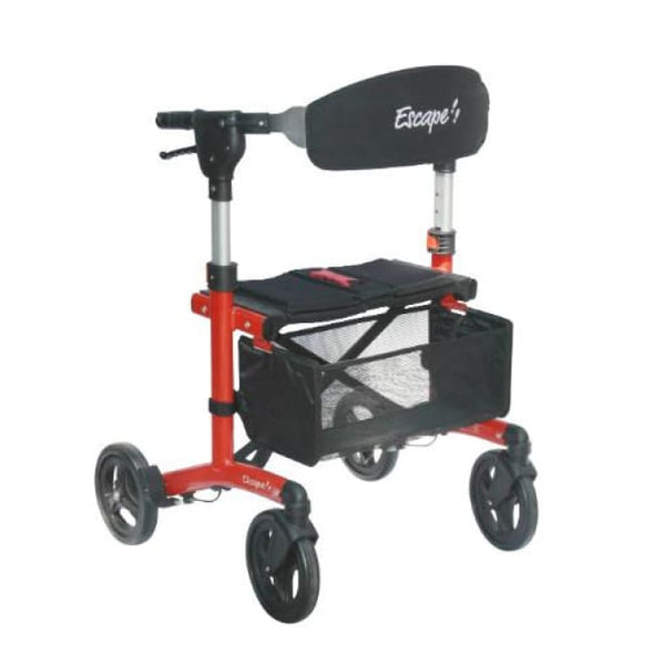 Escape Rollator Walker - Petite / Red - Rollator