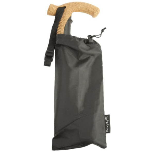 Flexyfoot Cork Handle Folding Walking Cane in Bag