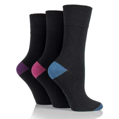 Non Binding Socks For Women In Black - Diabetic Socks