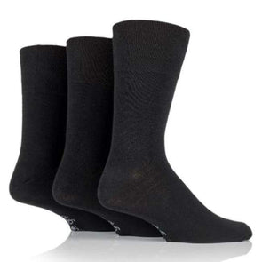 Non Binding Socks For Men Or Women In Solid Black - Diabetic Socks