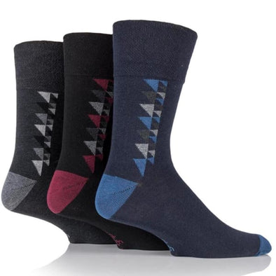 mens non binding socks with george triangle pattern
