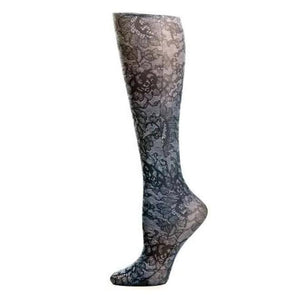 Lightweight Patterned Compression Socks In Midnight Lace - 8-15 Mmhg / Midnight Lace - Compression Socks